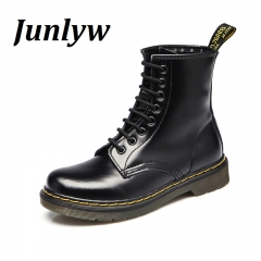 Junlyw Fashion Ankle Boots Women's Motorcycle Martin Boots Women Oxfords Women Shoes black 35
