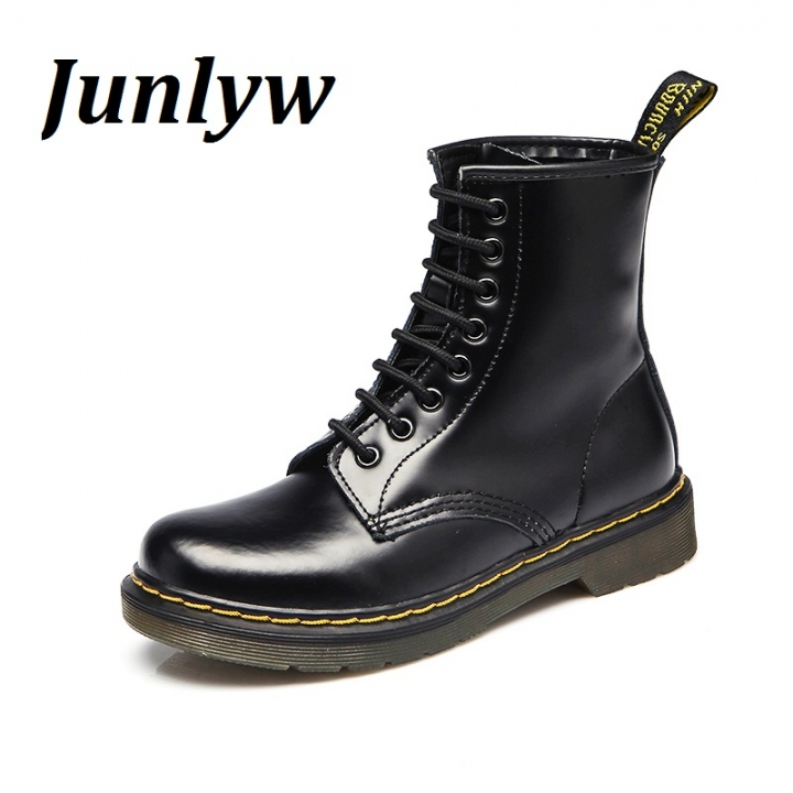 Junlyw Fashion Ankle Boots Women's Motorcycle Martin Boots Women Oxfords Women Shoes black 39
