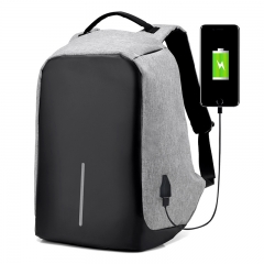 Men USB Charge Anti Theft Backpack Men Travel Security Waterproof School Bags  Laptop Backpack black one size
