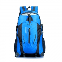 Women and men Fashion Oxford Waterproof  Bags  Backpack Travel Mountaineering Rucksack trekking bag blue one size