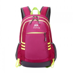 Climbing Backpack Camping Rucksack Sports Backpack Hiking Trekking Outdoor Bags Men Women Backpack Rose-red. one size
