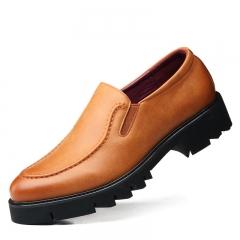 2018 Man Flat Classic Men Dress Shoes PU Leather  Formal Oxford ShoesDesigner Luxury Men Shoes brown 38