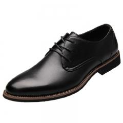 Fashion Men Shoes Genuine Leather Men Dress Shoes  Men's Business Casual Classic Gentleman Shoes black 38 genuine leather