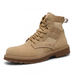 Fashion Men Boots Top Quality Men's Classic Canvas Martin Boots Ankle Shoes Fashion Breathable shoes Khaki 39