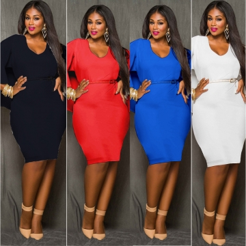 2017 New Style Women Plus Size Bareback Kenya Africa Dress Bodycon Sexy Kenyan African Lady Dresses Black XXXL