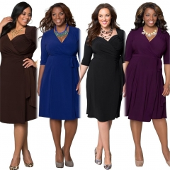 2017 New Style Plus Size Kenya Africa Dress Women Fashion Dresses Kenyan African Lady Leisure Dress black l
