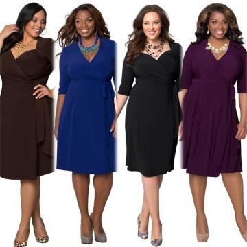 2017 New Style Plus Size Kenya Africa Dress Women Fashion Dresses Kenyan African Lady Leisure Dress Purple XL