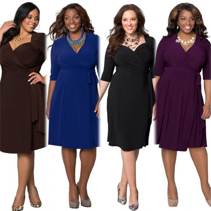 2017 New Style Plus Size Kenya Africa Dress Women Fashion Dresses Kenyan African Lady Leisure Dress Purple XXXL
