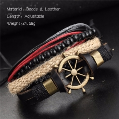 Men Jewellery Punk Vintage Captain Bracelet Boyfriend Gifts As Picture As Pictures
