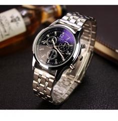 Yazole Men watch Watches Quartz Clock Fashion Leather belts Watch wristwatch brown white black