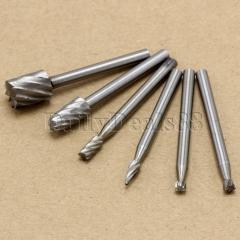 6Pcs HSS Rotary Router Bits Burr Milling Cutter Dremel Shaft Tool Set normal normal