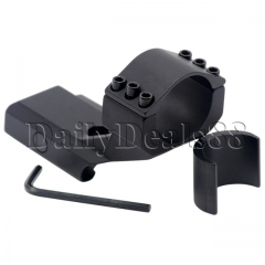 Cantilever Mount 30mm & 25.4mm rifle Scope Mount Rings for 20mm Weaver Barrel Mount Rails black as picture