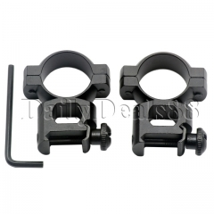 2x Rifle 25.4mm Flashlight Scope Mounts Rings for 20mm Weaver Picatinny Rail black as picture