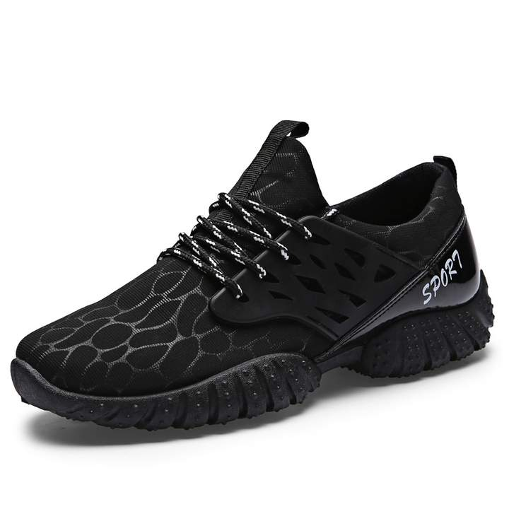 Men Lace Up Mesh Breatheable Sneaker Casual Running Shoes Sport Shoes for Men Black 44