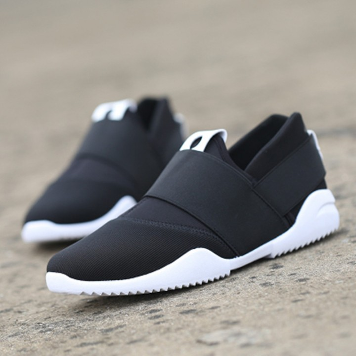 Slip-Ons Higher Shoes Men's Casual Shoes Breathable Canvas Sneakers Shoes for Men black 43