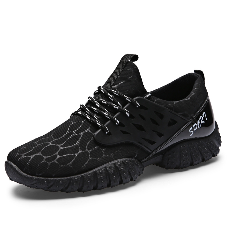 e2e7de79bb7 Men Lace Up Mesh Breathable Sneaker Casual Running Shoes Sport Shoes for  Men Black 42