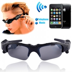 Sun Glasses Wireless Bluetooth Headset for iPhone for Samsung for  Bluetooth Device Headphone black one size