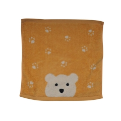 Soft Fluffy Hand Towels Yellow 20cm*20cm