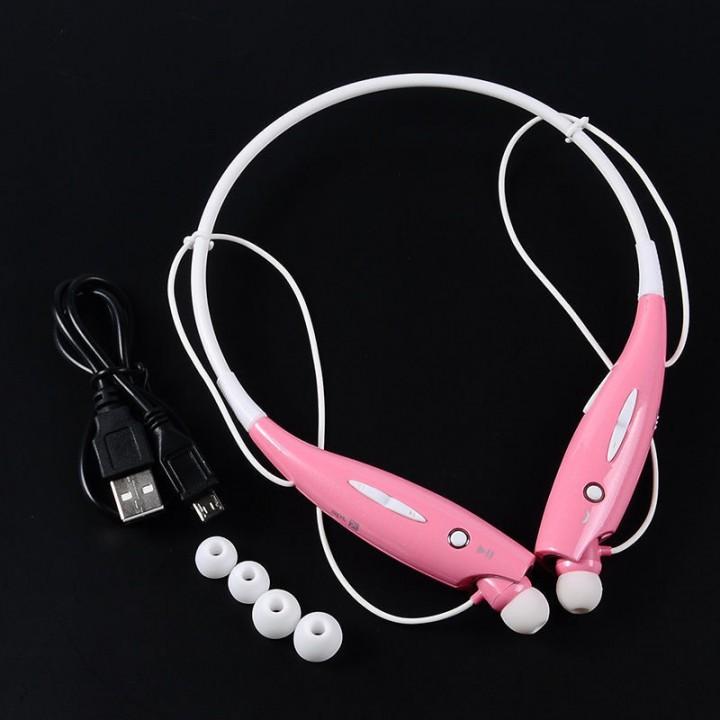 Bluetooth Wireless Headset Stereo Headphone Earphone Sport Handfree Universal pink