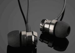 3.5mm In-Ear Earphones Super Headphones Stereo Headset Earbuds With Mic black