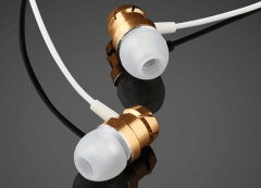 3.5mm In-Ear Earphones Super Headphones Stereo Headset Earbuds With Mic Golden