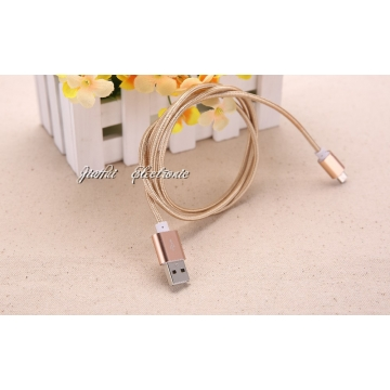 High quality lightning data & charging cable line FOR Android/iphone5/5s/6/6s 100cm+Golde+Android