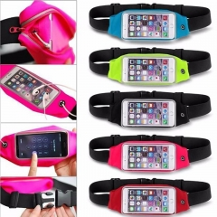 Sports Running Jogging Gym Waist Belt Bag Case Cover Holder For Mobile phone white 5.0~6.0inc currency