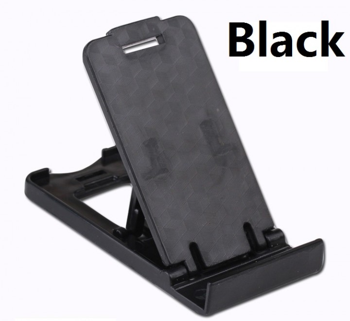 Multi-angle Mini Portable Phone Stand Universal Adjustable Foldable Cell Phone Tablet Desk Stand black 80*38mm
