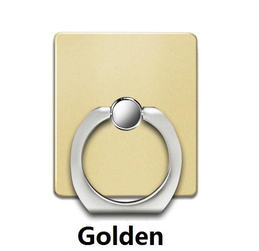 360 Degree Finger Ring Grip Mobile Phone Tablets Holder Stand Holder Back Cover golden 40*35*7mm