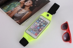 Sports Running Jogging Gym Waist Belt Bag Case Cover Holder For Mobile phone fluorescent green 5.0~6.0inc currency