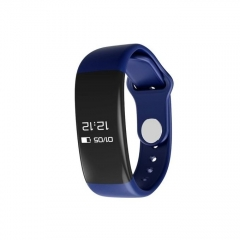 H30 Bluetooth Smartband Heart Rate Monitor Tracker Fitness Watch for Android & IOS  - Blue & Black blue/black n/b