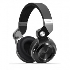 Bluedio T2+ Foldable Wireless Bluetooth Stereo Headset TF Card/FM Function - Black black