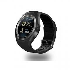 Smart Gear Y1 Smart Phone Watch With Sim ToolKit / Mpesa Menu - Black black n/b