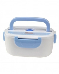 Plastic Electric Lunch Box- Blue Blue Lightweight