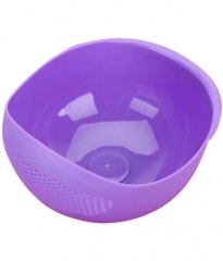 Fresh Plastic Colorful Rinse Fruit Vegetables Basin  Bowl Drainer Purple lightweight