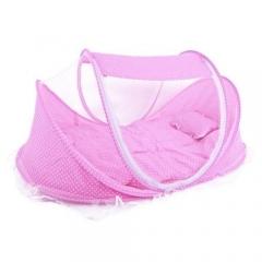 Baby cot mosquito net - PINK 110X60X60CM