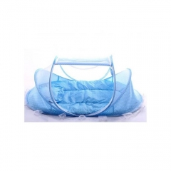 Foldable Infant Baby Child Pop Up Cot Bed- BLUE 110x60x60cm