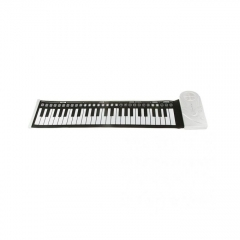 49 Keys Electronic Roll Up Soft Keyboard Piano BLACK AND WHITE one size
