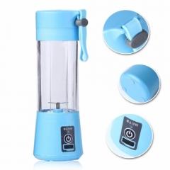 Portable Blender Juicer Cup / Electric Fruit Mixer / USB Juice Blender, Rechargeable blue one size