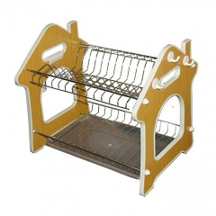 2 Tier Stainless Steel Dish Drainer Drying Rack