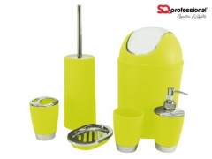 Bathroom Accessories Set- 6 Pieces green ONE SIZE