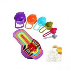 Measuring Cup and Spoon Set multi color 6 pieces