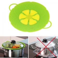 Silicone Spill Stopper Lid Cover and Spill Stopper, Boil Over Safeguard,Heat-Resistant green one size