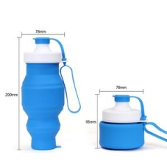 Collapsible Pocket-sized Travel Water Bottle blue one size