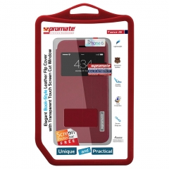 PROMATE LEATHER FLIP CASE TAMA -100561485 red 100568692 iphone 6/6s
