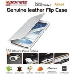 PROMATE LEATHER FLIP CASE S.NOTE 2 AKNOL -100568691 white Galaxy Note II