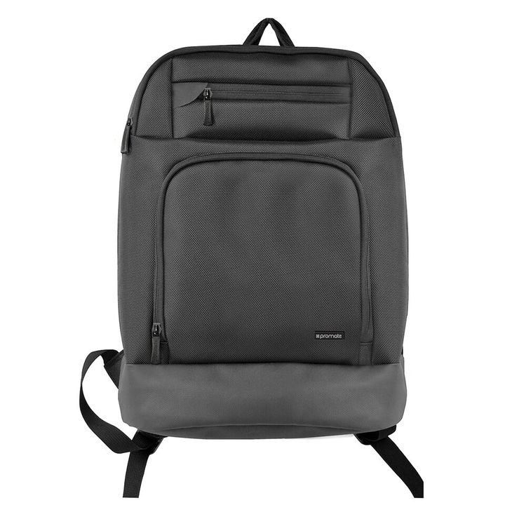 PROMATE VERTEX-BP:Black Backpack with Multiple Storage Pockets & Adjustable Straps black one size