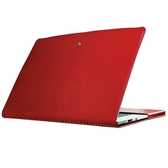 Promate MACLINE-PRO13: Red Lightweight protective Leather Folder Case for 13-inch MacBook Air