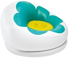 Intex Inflatable Blossom Chair zx-68574 blue flowered