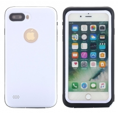 iPhone 7 Plus Waterproof Case, Shockproof Dirt-proof Protective cover, Snow-proof Underwater IP68 white one size